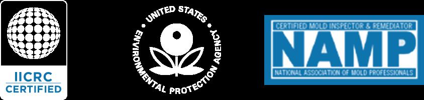 IICRC Certifies // EPA // NAMP